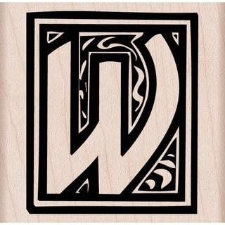 "Hero Arts Mounted Rubber Stamp 2.5""x2.5"" -Illuminated W"