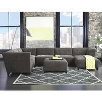 Hand-tufted Pemberly Grey Wool Area Rug (5' x 8')