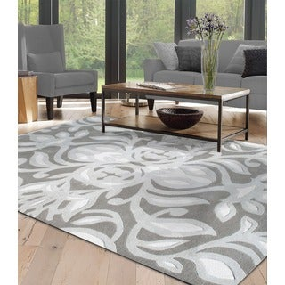 Hand-tufted And Hooked Antionette Wool and Silk Area Rug (5' x 8')