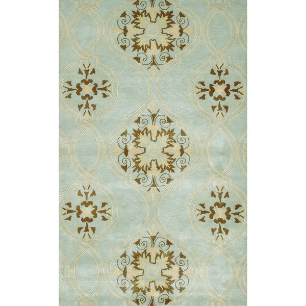 Hand-tufted Beacon Hill Wool and Artificial Silk Area Rug - 5' x 8'