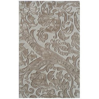 Hand-tufted Leoni Wool and Artificial Silk Area Rug (5' x 8')