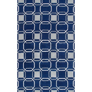 Hand-tufted Westover Wool and Artificial Silk Area Rug (5' x 8')