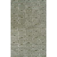 Hand-tufted Primative Nature Wool and Artificial Silk Area Rug (5' x 8')