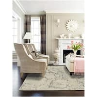 Hand-tufted Dappled Wool and Silk Area Rug - 5' x 8'