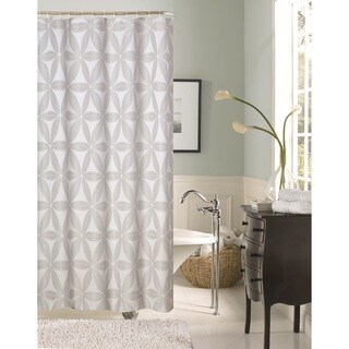 Dainty Home Iris Floral Shower Curtain