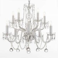 Gallery Crystal 10-light Chandelier with Faceted 40mm Crystal Balls
