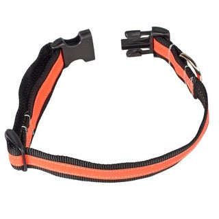 Petflect Black/Orange Reflective AdventurePlay Collar