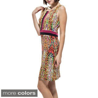 Amelia Mosaic 3 Seamed Knit Sheath|https://ak1.ostkcdn.com/images/products/10034199/P17179870.jpg?impolicy=medium