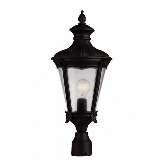 Trans Globe Cambridge 1-Light Black 9 in. Outdoor Post He...