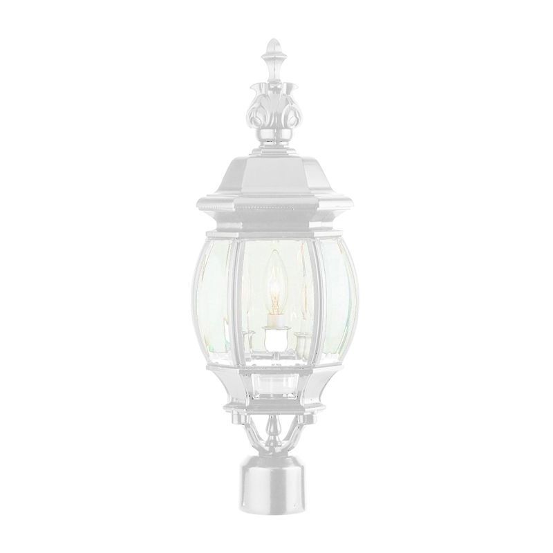 Trans Globe Cambridge White Finish Outdoor Post Head With...