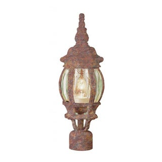 Cambridge Rust Finish Outdoor Post Head With A Beveled Shade