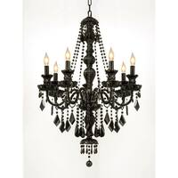 Crystal Jet Black 7-light Chandelier Pendant