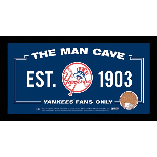 Shop New York Yankees Man Cave Sign 6x12 Framed Photo With