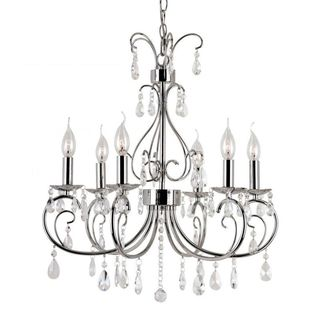 Cambridge 6-Light Polished Chrome 22.5 in. Chandelier