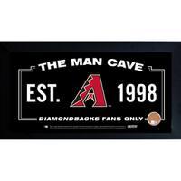 Arizona Diamondbacks Man Cave Framed 10x20 Sign w/ Authentic Game-Used Dirt (MLB Auth)