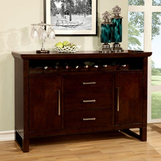 Furniture of America Redora Contemporary Espresso Dining Server