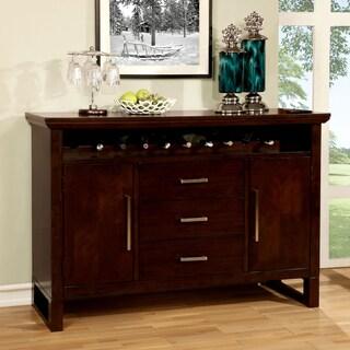 Furniture of America Redora Contemporary Espresso Dining Server