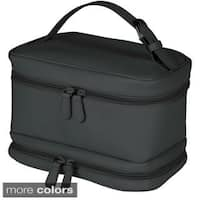 Royce Leather 'Victoria' Genuine Leather Cosmetic Travel Bag