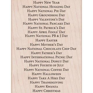 """Hero Arts Mounted Rubber Stamp 4.25""""X3.25""""-All Holiday Background"""