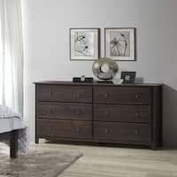 Grain Wood Furniture Shaker 6-drawer Solid Wood Dresser