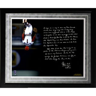 Ozzie Smith Facsimile 'Flip' Framed Metallic 16x20 Story Photo