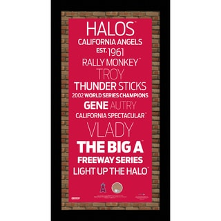 Los Angeles Angels of Anaheim Subway Sign Wall Art 9.5x19 Frame w/ Authentic Dirt from Angel Stadium of Anaheim