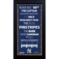 New York Yankees Subway Sign 6x12 Framed Photo