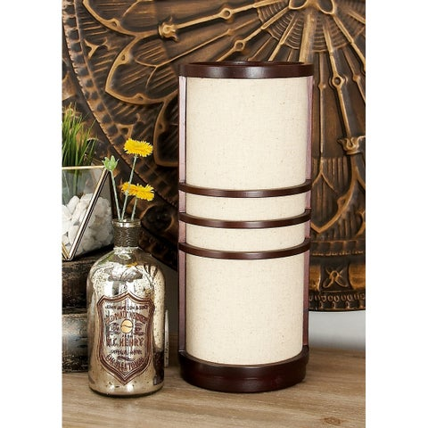 Eclectic Lantern Style Wooden Luminaire Table Lamp by Studio 350