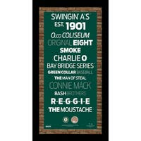 Oakland Athletics Subway Sign Wall Art 9.5x19 Frame w/ Authentic Dirt from O.co Coliseum
