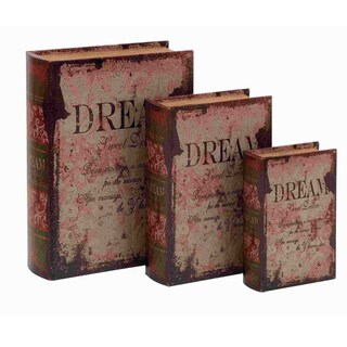 Leather 3-piece Vintage Design Book Box Set