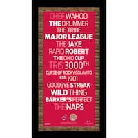 Cleveland Indians Subway Sign  9.5x19 Frame w/ auth Dirt from Jacobs Field