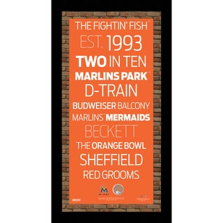 Miami Marlins Subway Sign Wall Art 9.5x19 Frame w/ Authentic Dirt from Marlins Park.