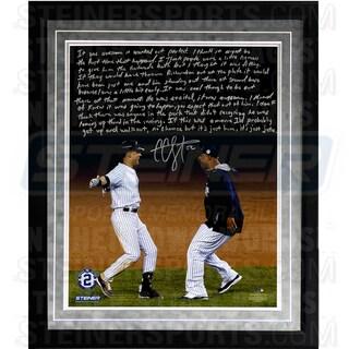CC Sabathia Facsimile 'Jeter's Yankee Farewell' Framed Metallic 16x20 Story Photo