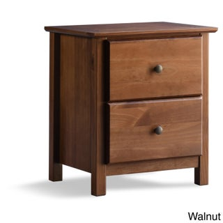 Grain Wood Furniture Shaker 2-drawer Solid Wood Nightstand (2 options available)