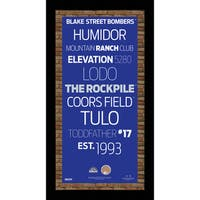 Colorado Rockies Subway Sign Wall Art 9.5x19 Frame w/ Authentic Dirt from Coors Field.