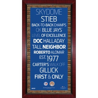 Toronto Blue Jays Subway Sign Wall Art 16x32 Frame w/ Authentic Dirt from the Rogers Centre