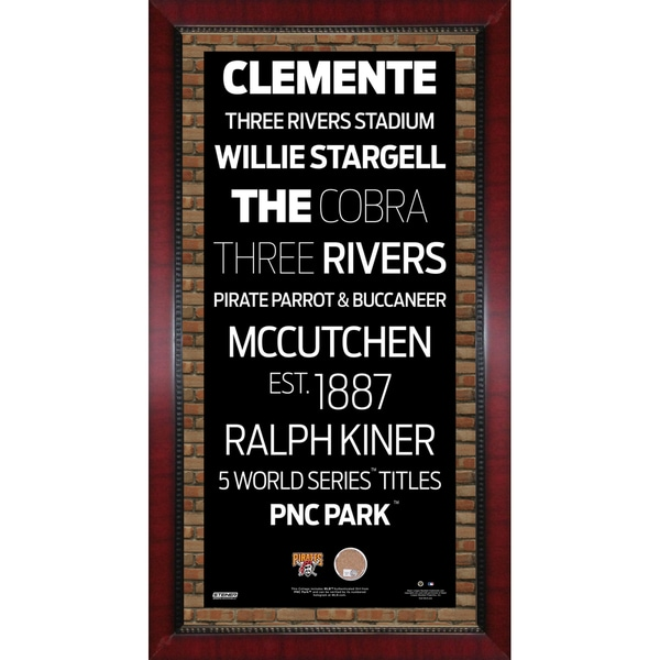 Pittsburgh Pirates Subway Sign Wall Art 16x32 Frame w/ Authentic Dirt from PNC Park