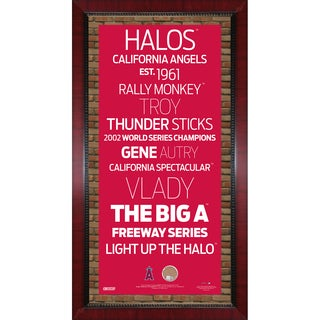Los Angeles Angels of Anaheim Subway Sign Wall Art 16x32 Frame w/ Authentic Dirt from Angel Stadium of Anaheim