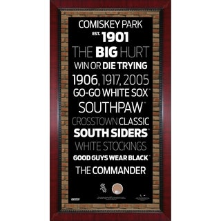 Chicago White Sox Subway Sign 16x32 Frame w/ auth Dirt from U.S. Cellular Field