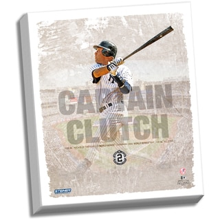 Derek Jeter Captain Clutch 22x26 Stretched Canvas