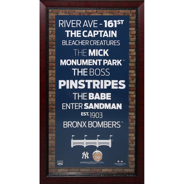 New York Yankees Subway Sign 16x32 w/ Authentic Dirt from Yankee Stadium (16x32 - 7500)