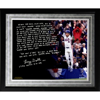 Lenny Dykstra Facsimile '86 NLCS Walk-Off HR' Framed Metallic 16x20 Story Photo