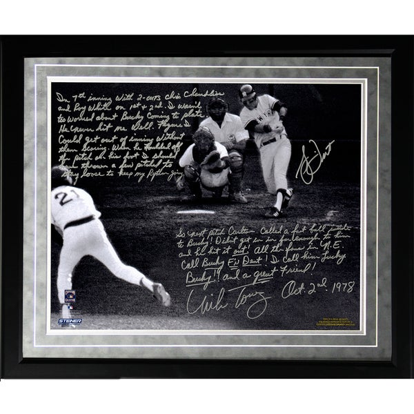 Bucky Dent & Mike Torrez Facsimile '1978 Walk-Off Home Run' Framed Metallic 16x20 Story Photo