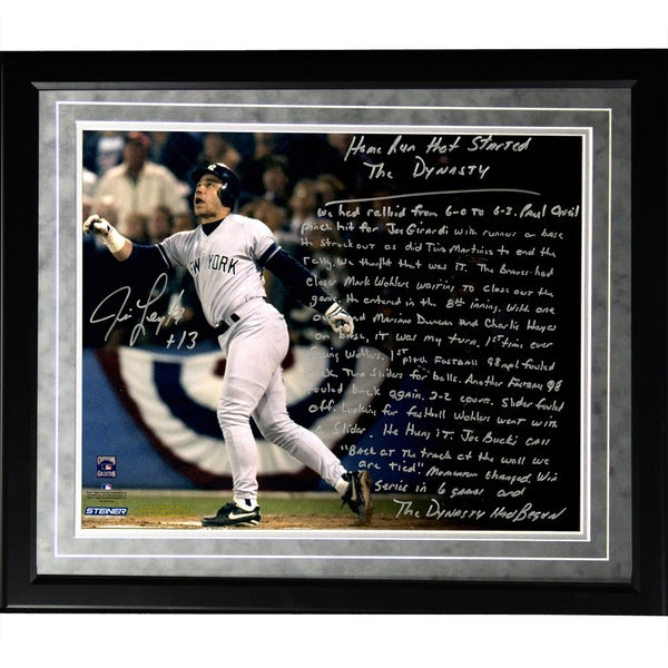 Jim Leyritz Facsimile 'Dynasty Home Run' Framed Metallic 16x20 Story Photo