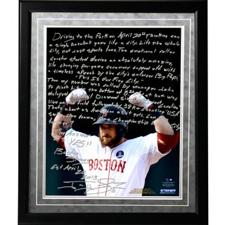 Jonny Gomes Facsimile 'Boston Strong' Framed Metallic 16x20 Story Photo