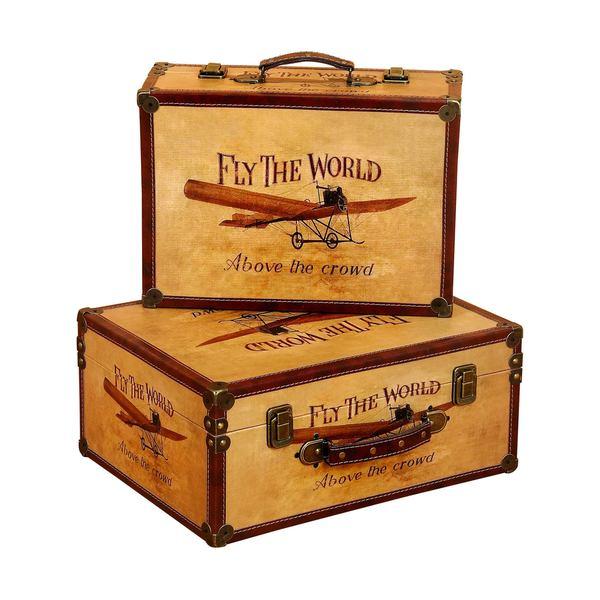 Decorative Wood Storage Box (Set of 2)