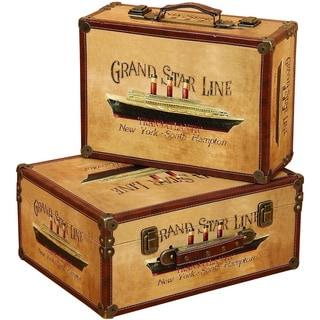 Wooden Storage Box Set (Set of 2)