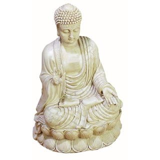 White Polystone Buddha Sculpture|https://ak1.ostkcdn.com/images/products/10034908/P17180410.jpg?impolicy=medium