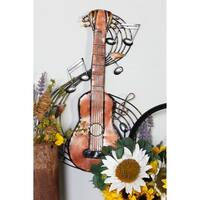 Metal Music Wall Plaque - Brown