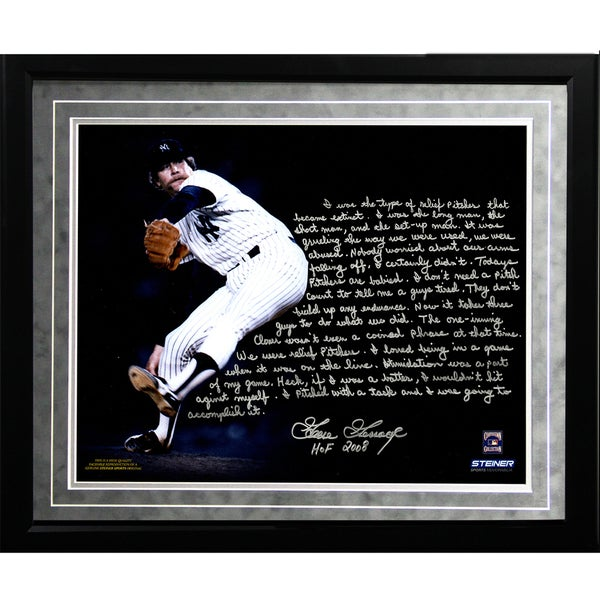 Goose Gossage Facsimile 'On Closing' Framed Metallic 16x20 Story Photo